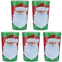 TOYMYTOY 5pcs Weihnachten Plastikbecher, Trinkbecher Weihnachtsferien Partygeschirr und Party Supplies