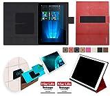 reboon Hülle für Allview WI10N Pro Tasche Cover Case Bumper | in Rot Leder | Testsieger