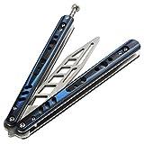 Andux Zone Trainer Messer volle Stahl ohne Schrauben Dauerhaft CS/HDD40 (Blau)