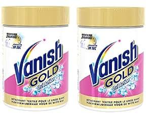 Vanish Oxi Action Crystal Détachant Blanc Gold 470 g - Lot de 2