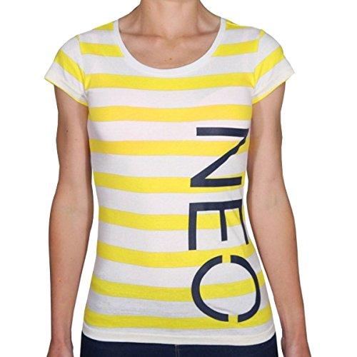 Women's Adidas Neo Side Print Cotton Striped T-Shirt