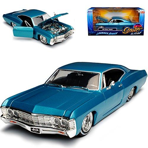 Jada Chevrolet Chevy Impala Coupe Blau Tuerkis Lowrider 1967 1/24 Modell Auto - Modell Auto Chevy Impala
