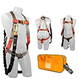 Madaco tetto Costruzione Protezione anticaduta Full Body Harness sicurezza industriale Shock Absorbing interno 6FT cordino Kit Dimensione M-XXL ANSI OSHA Combo A Arancione