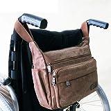 MJK Aufbewahrungstasche für Rollstuhlrucksäcke - Tragen der Zubehörtasche auf Rollstühlen, Rollwanderern; Transportstühle - Rollstuhltasche tragbar