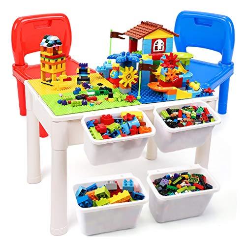 Spielzeug Tisch Tische Multifunktionale Gebäude Tisch Kinder Pädagogisches Spielzeug Jungen Und Mädchen Spielzeug Geschenke Für Kinder (Color : Color, Size : 60.5 * 41.5 * 43.5cm) - Junge Gebäude Spielzeug