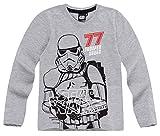Star Wars Kollektion 2018 Langarmshirt 104 110 116 122 128 134 140 146 152 Jungen Pullover Sturmtruppler Stormtrooper Grau (Grau, 146-152)