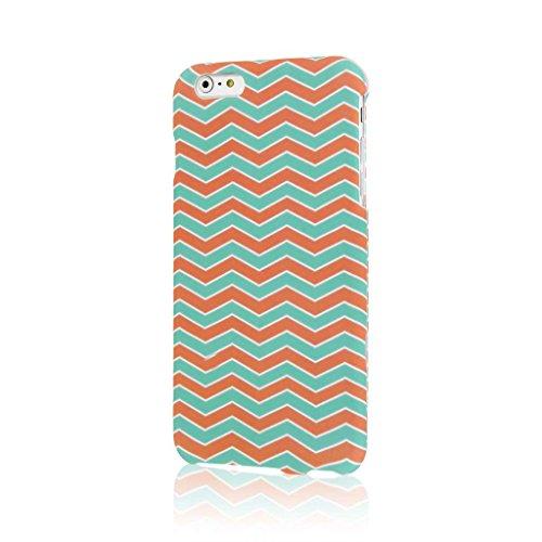 "MPERO SNAPZ Series Glossy Case Custodia per Apple iPhone 6 Plus 5.5"" - White Paint Splatter Mint Chevron, SNAPZ"