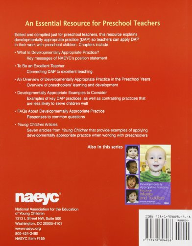 Developmentally Appropriate Practice: Focus on Preschoolers (Developmentally Appropriate Practice Focus Series)