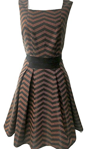 Karen-Millen-zig-zag-dress-orange-and-black-Size-UK-12