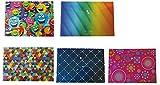 4X 5différents Designs Button Pochettes A4+–20pochettes en Total...