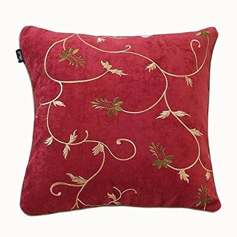 Georgia Blue Liv sofa pillow/Velvet cloth embroidered cushion covers/Plaid pillow/Office lumbar pillow-F