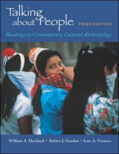 Talking about People: Readings in Cultural Anthropology by William A. Haviland (2002-01-09)