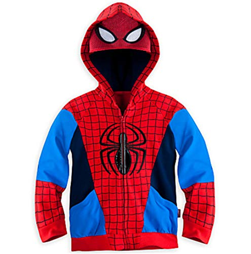 (Spider-Man - Superheld - Avengers - Iron Man Boy - Kapuzenjacke (Spiderman, 130CM/5T))