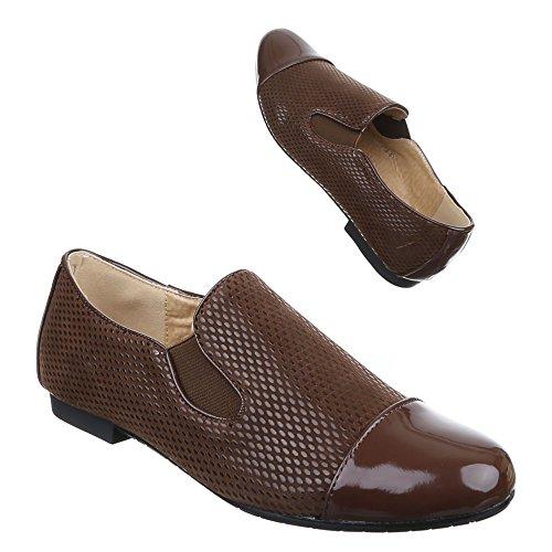 Ital-Design , chaussons dintérieur femme Marron