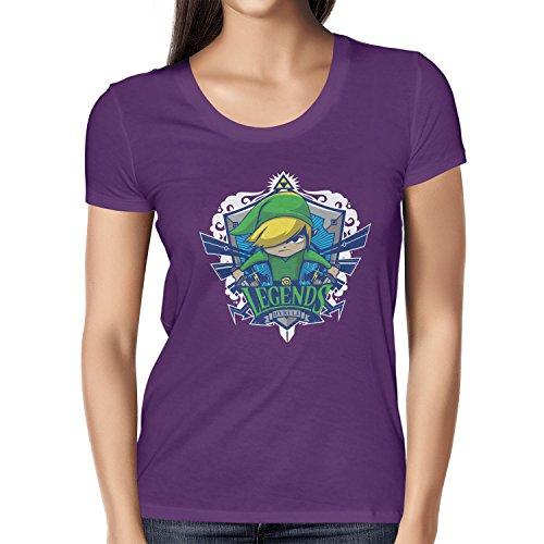 NERDO - Legends Hyrule - Damen T-Shirt Violett