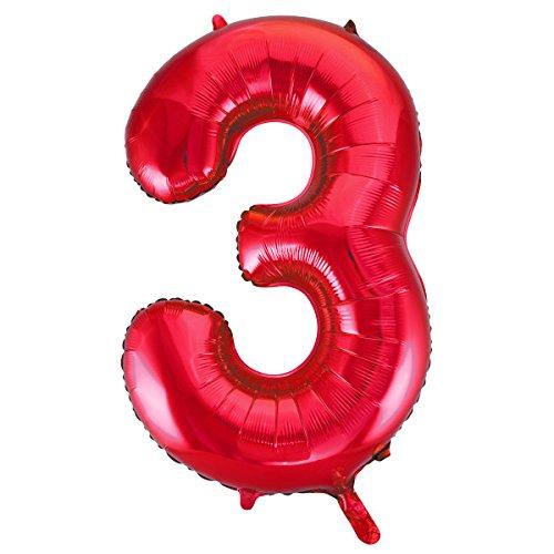 Unique Party Supplies Folienballon im Zahlen-Design, groß, ()