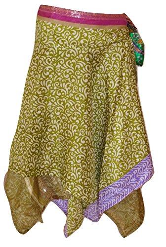 Indian Wrap Around Rock Magic Rock Premium Qualität Sari Silk Wrap Rock / Top / Kleid - 24Zoll Drop