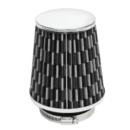 black-gray-car-rubber-base-clamp-on-76mm-inner-dia-intake-tapered-air-filter