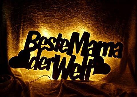 Schlummerlicht24 Für die Beste Mama der Welt mit Gruß Gravur,