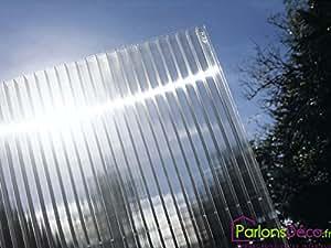 Plaque polycarbonate alvéolaire translucide 16mm
