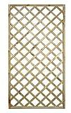 Evergreeen - Jardinera con rejilla, rectangular, 120x 180cm, madera tratada - EG51726