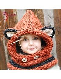 JBLDY Sombrero para Niños Otoño E Invierno Espesante Protector de Oreja  Forma de Animal Gorro de d36ff6392fc1