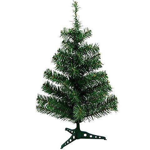 Cosanter 60cm Arbre de Noël artificiel sapin vert nature matériau PVC avec pied en plastique