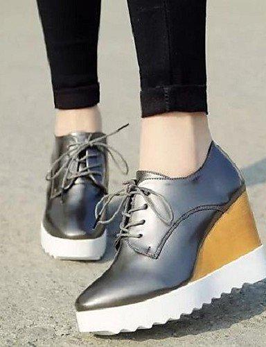 ZQ hug Scarpe Donna - Sneakers alla moda - Tempo libero / Formale - Comoda / Punta squadrata - Zeppa - Finta pelle -Nero / Rosso / Bianco / , silver-us8 / eu39 / uk6 / cn39 , silver-us8 / eu39 / uk6 / black-us7.5 / eu38 / uk5.5 / cn38