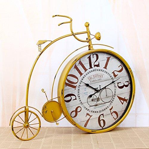 WEILON Sepia simplex Fahrrad Wanduhr Handwerk Uhren home Bügeleisen Handwerk Stummschalten des pendels Teil Neuesten styles (Standuhr Teile Pendel)
