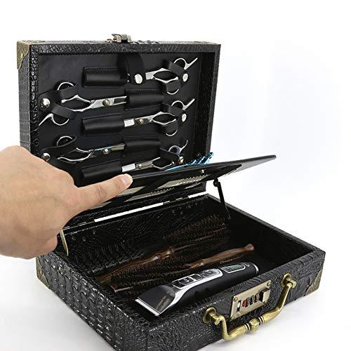 Pro Hair styliste ciseaux titulaire étui pour les coiffeurs, salon coupe de coiffure outils sac étui en cuir organisateur