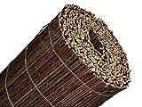 BOOGARDI Premium Weidenmatte 100 x 500 cm schwarz-braun · Natur-Sichtschutzmatte in vielen Größen aus gekochten Weide-Zweigen für Garten, Balkon und Terrasse