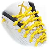 XTENEX - X300 Yellow 20 (PATENTED) Adjustable Eyelet Blocking No Tie Elastic Shoe Laces for an Extreme Lock In Performance Fit