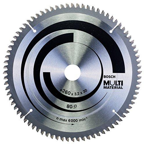 Bosch Zubehör 2608641204 Kreissägeblatt Multi Material 260 x 30 x 3,2 mm, 80