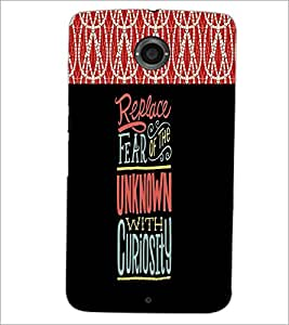 PrintDhaba Quote D-2680 Back Case Cover for MOTOROLA GOOGLE NEXUS 6 (Multi-Coloured)