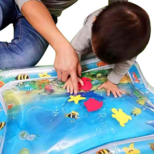 WEISY Aufblasbare Bauch Zeit Wasserspielmatte Spielzeug, perfekte sensorische Spielzeug für Baby Frühförderung Aktivitätszentren für Kinder Kleinkinder