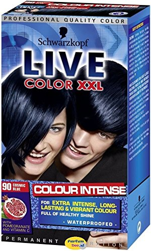1 x Schwarzkopf Live Color XXL Colour Intense Permanent Colouration 90 Cosmic Blue -
