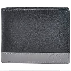 Gentleman Black Genuine Mens Leather Wallets (Beige)