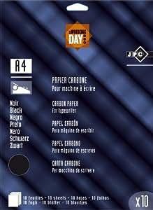 JPC Lot de 3 sachets 10 feuilles de papier carbone machine Noir