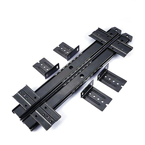 dometool UK Möbel Schublade Gleitschiene 35,6cm Computer-Schreibtisch Tastatur Tablett Slide Schiene Track schwarz