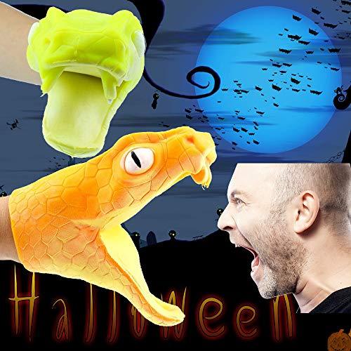 ALIKEEY Halloween Viper Tier Handpuppe Baby Kleinkind Spielzeug Silikagel Parodie Requisiten Spielzeug ()