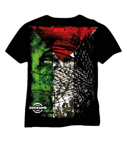 Zoonamo T-Shirt Palästina Classic, Farbe:schwarz, Größe:L