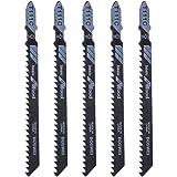 Exing 5 Stück T111C 4 Zoll HCS T-Schaft Stichsägeblätter Set Säbelsägeblätter Sägeblätter Für Holz PVC Kunststoff Schneiden