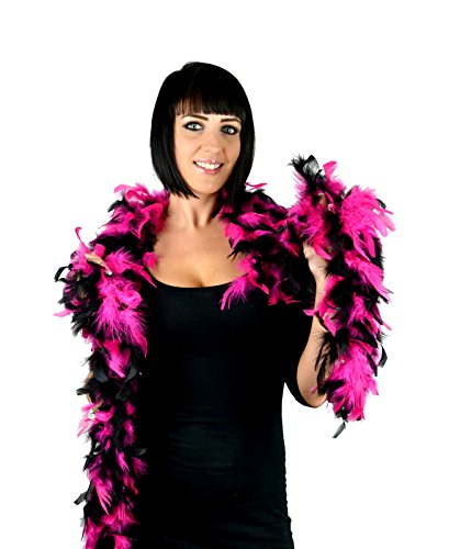 Touch of Nature 36753 Chandelle Boa, Hot Pink/Schwarz - Hot Pink Boa