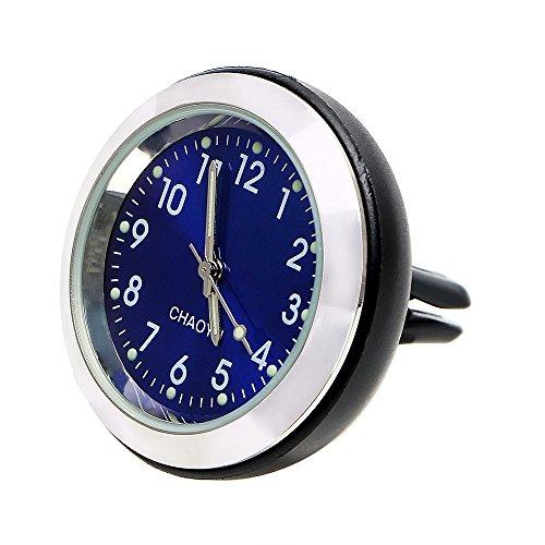 itimo Auto Uhr mit Parfum Klimaanlage Clip Auto-Lufterfrischer Luminous Ornament Auto Steckdose Aromatherapie Innen Zubehör (blau)