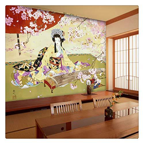 Fotomural Grande 3D Wallpapers papel Tapiz Mural Cuadro De Damas Japonesas Para Decoración De Pared Para Entretenimiento Restaurante Bar Sala De Estar, 430 Cm X 300 Cm