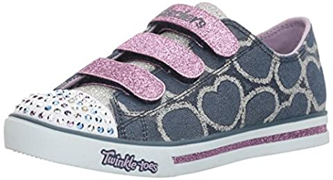 Disco Porter Costumes - Skechers Sparkle Glitz-Heartsy Glam, Sneakers Basses Fille,