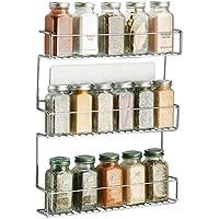 mDesign rangement épices à coller – range épices en métal avec trois niveaux – porte épices pratique et sans perçage…