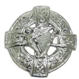 Tartanista Kiltnadel/Plaid-Brosche - Irische Harfe mit keltischem Design