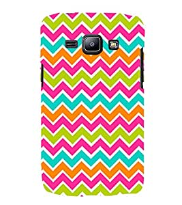 Color Chevron Fashion 3D Hard Polycarbonate Designer Back Case Cover for Samsung Galaxy J1 :: Samsung Galaxy J1 J100F (2015)