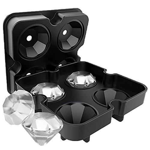 Lalang Schwarz Diamant- Form Silikon Kuchen Schimmel Backformen, Eis-Form